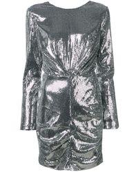 MSGM Robe à sequins - Métallisé