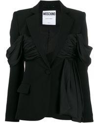 Moschino ラッフル ジャケット - ブラック