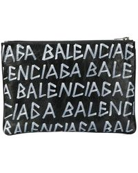 Balenciaga Carry Clip M Clutch - Black