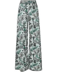 M Missoni - Floral Flared Trousers - Lyst