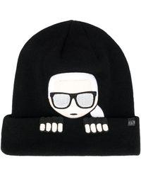 Karl Lagerfeld 'K/Ikonik' Beanie - Schwarz