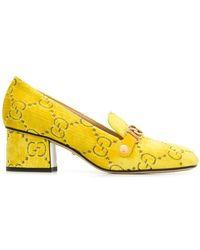 Gucci - Velvet GG Logo Loafers - Lyst