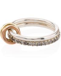 Spinelli Kilcollin Кольцо Из Желтого Золота И Серебра С Бриллиантами - Металлик