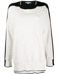 Stella McCartney Jersey con diseño de dos tonos - Blanco