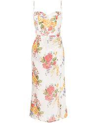 Reformation Платье Kourtney С Цветочным Принтом - Белый