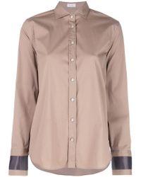 Brunello Cucinelli - Рубашка С Контрастными Манжетами - Lyst