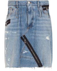 Dolce & Gabbana ジップディテール デニムスカート - ブルー