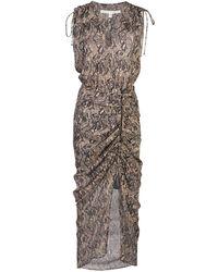 Veronica Beard スネークパターン ドレス - マルチカラー