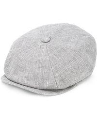 Brunello Cucinelli Textured Wide Brim Hat - Gray
