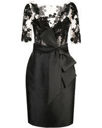 Badgley Mischka - Vestido ajustado a paneles - Lyst