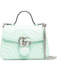 Gucci Сумка-тоут GG Marmont - Зеленый
