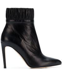 Chloe Gosselin Gathered Ankle Boots - Black