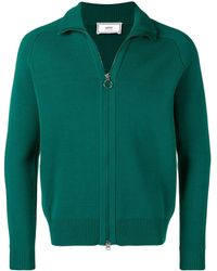 AMI Zipped Cardigan - Green