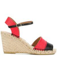 Emporio Armani - Colour Block Logo Wedge Sandals - Lyst