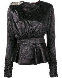 Dodo Bar Or Sash Detail Top - ブラック
