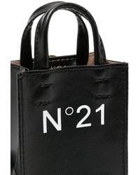 N°21 ロゴ ミニバッグ - ブラック