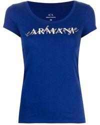 Armani Exchange ロゴ Tシャツ - ブルー