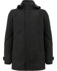 Herno Short Hooded Coat - Zwart