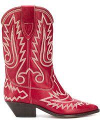 Isabel Marant Duerto Texan ブーツ - レッド
