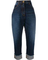 Balmain High-waisted Cotton Jeans - Blue