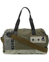 DIESEL Logo Print luggage Bag - Green