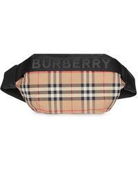 Burberry Gürteltasche mit Vintage-Check - Schwarz