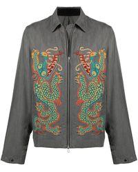 Maharishi ドラゴン シャツジャケット - グレー