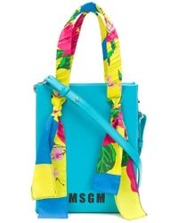 MSGM - Scarf Detail Micro Tote - Lyst