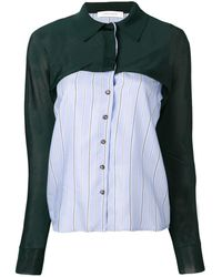 Cedric Charlier - Panelled Shirt - Lyst