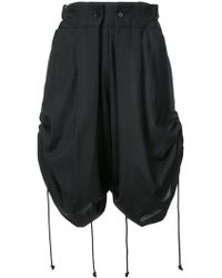Yohji Yamamoto - Gathered Detail Shorts - Lyst