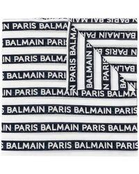 Balmain - Printed Logo Scarf - Lyst