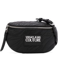 Versace Jeans ロゴ ベルトバッグ - ブラック