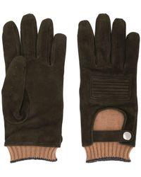 Brunello Cucinelli Handschuhe im Layering-Look - Braun