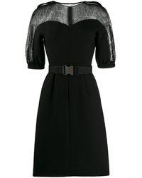 Fendi ショートスリーブ ドレス - ブラック