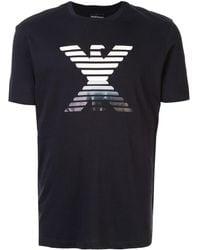 Emporio Armani ロゴ Tシャツ - ブルー