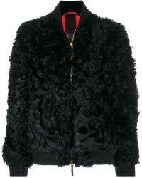 Numerootto - Fur Bomber Jacket - Lyst