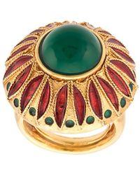 Oscar de la Renta Peacock Ring - Metallic