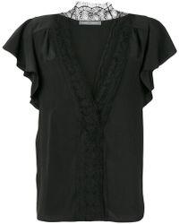 Alberta Ferretti - Lace-embroidered Blouse - Lyst