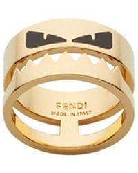 Fendi Bag Bugs Ring - Metallic