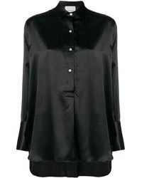 Laneus Рубашка С Асимметричным Подолом - Черный