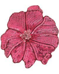 Racil Flower Brooch - Red