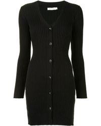 Anna Quan リブニット ドレス - ブラック