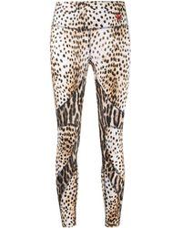 R13 Leopard-print Paneled leggings - Brown