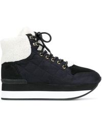 Trussardi Lace-up Quilted Sneakers - Black