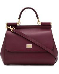 Dolce & Gabbana Сумка Sicily Среднего Размера - Пурпурный