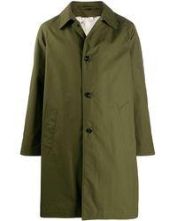 Marni Single-breasted Coat - Green