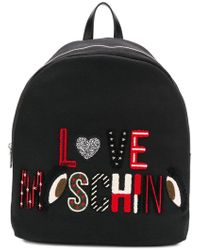 Love Moschino - Embroidered Backpack - Lyst