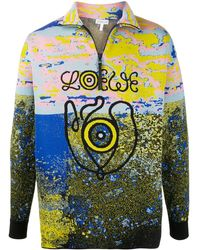 Loewe Eye Nature Zip-up Jumper - Blue