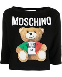Moschino ロゴ クロップドトップ - ブラック