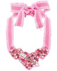 RED Valentino クリスタル ネックレス - ピンク